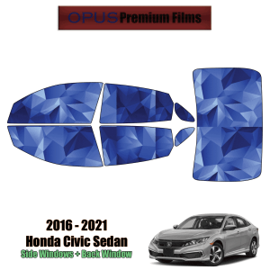 2016 – 2021 Honda Civic Hatchback – Full Hatchback Precut Window Tint Kit Automotive Window Film