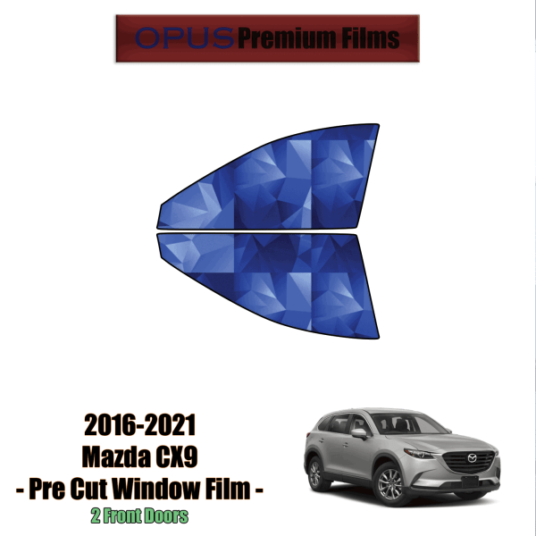 2016 – 2021 Mazda CX9 – 2 Front Windows Precut Window Tint Kit Automotive Window Film