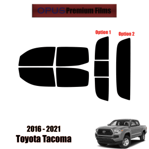 2016 – 2021 Toyota Tacoma – Full Car Precut Window Tint Kit Automotive Window Film