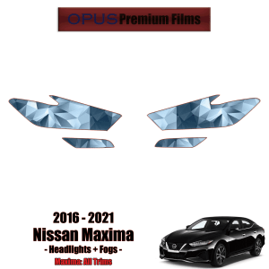 2016 – 2021 Nissan Maxima – Precut Paint Protection Kit (PPF) – Headlights & Fogs