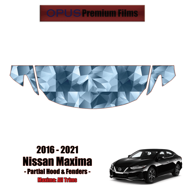 2016 – 2021 Nissan Maxima – Precut Paint Protection Kit (PPF) – Partial Hood + Fenders