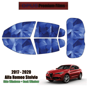 2017 – 2020 Alfa Romeo Stelvio – Full SUV Precut Window Tint Kit Automotive Window Film