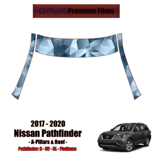 2017 – 2020 Nissan Pathfinder – Precut Paint Protection Kit (PPF) – A-Pillars + Roof Top