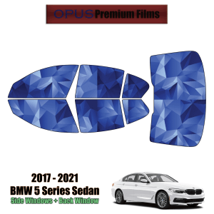 2017 – 2021 BMW 5 Series Sedan – Full Sedan Precut Window Tint Kit Automotive Window Film