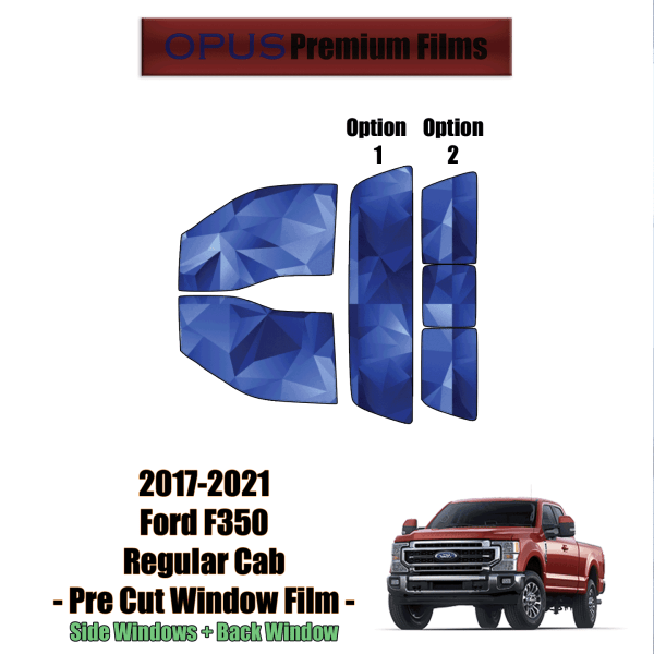 2017 – 2021 Ford F350 Regular Cab – Full Truck Precut Window Tint Kit Automotive Window Film