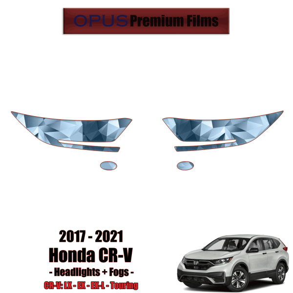2017 – 2021 Honda CR-V – Precut Paint Protection Kit (PPF) Headlights + Fogs