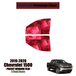 2019 – 2020 Chevrolet Silverado 1500 2 Front Windows (PreCut Window Film)
