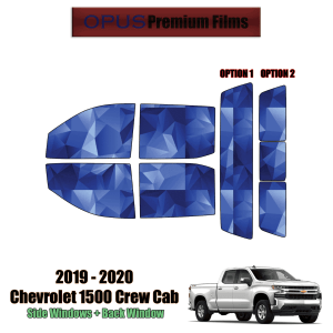 2019 – 2020 Chevrolet Silverado 1500 Crew Cab – Full Truck Precut Window Tint Kit Automotive Window Film