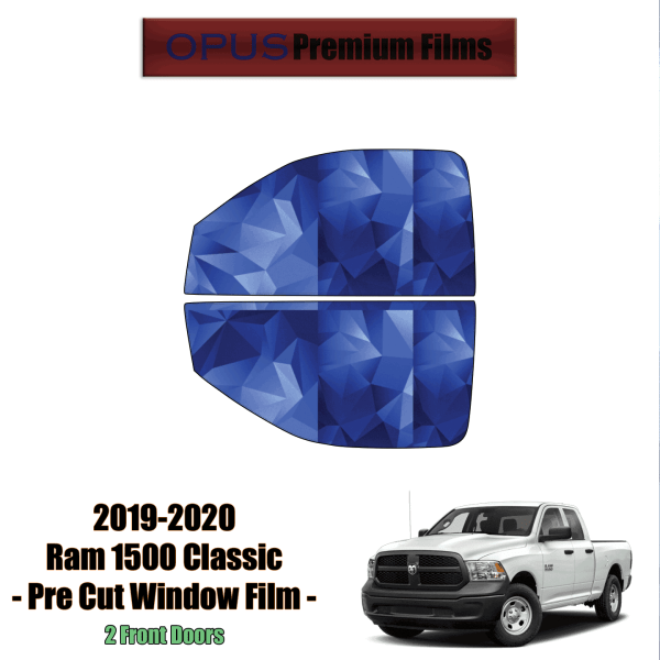 2019 – 2020 RAM 1500 Classic – 2 Front Windows Precut Window Tint Kit Automotive Window Film