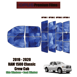 2019 – 2020 RAM 1500 Classic Crew Cab – Full Truck Precut Window Tint Kit Automotive Window Film