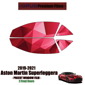 2019 – 2021 Aston Martin Superleggera – 2 Front Windows Precut Window Tint Kit Automotive Window Film