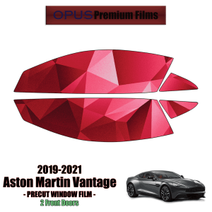 2019 – 2021 Aston Martin Vantage 2 Front Windows (PreCut Window Film)