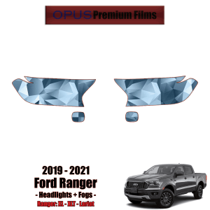 2019 – 2021 Ford Ranger Paint Protection Kit (PPF) – Headlights + Fogs