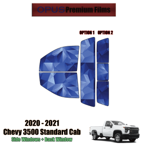 2020 – 2021 Chevrolet Silverado 3500 Standard Cab – Full Truck Precut Window Tint Kit Automotive Window Film