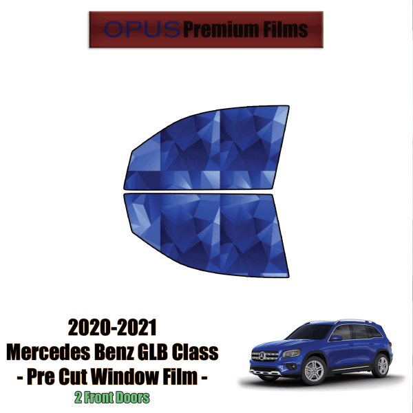 2020 – 2021 Mercedes Benz GLB Class – 2 Front Windows Precut Window Tint Kit Automotive Window Film