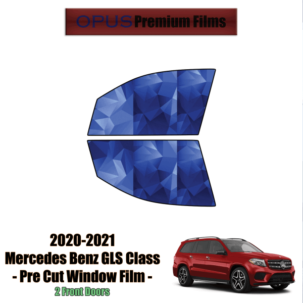 2020 – 2021 Mercedes Benz GLS Class – 2 Front Windows Precut Window Tint Kit Automotive Window Film