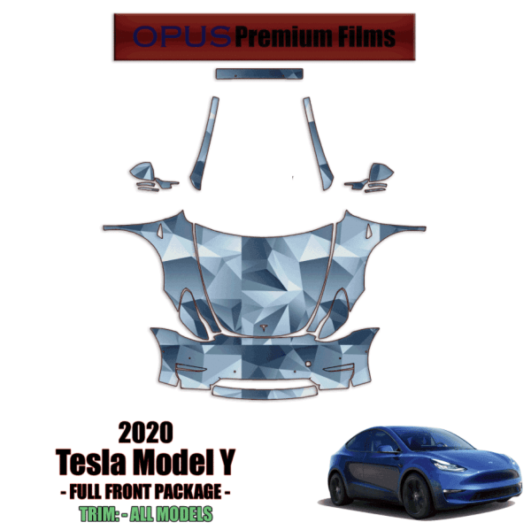 2020 – 2021 Tesla Model Y Paint Protection Kit Full Front Wrap