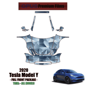 2020 – 2021 Tesla Model Y Paint Protection Kit (Full Front With A-Pillars)