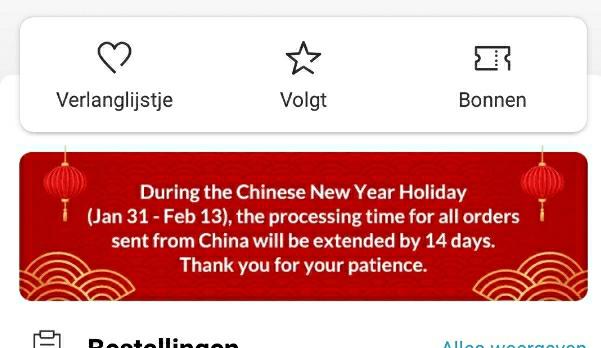 Chinees Nieuwjaar en AliExpress