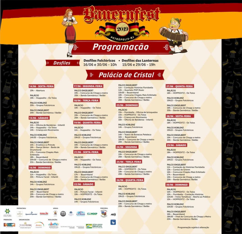 Programação Bauernfest 2019