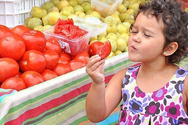 alimentação saudável na feira