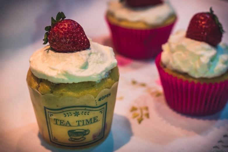 Cupcakes de Morango e Iogurte
