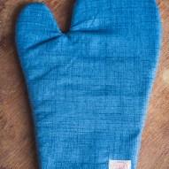 Luva de Forno Azul Jeans