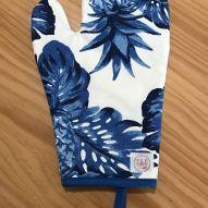 Luva de Forno Abacaxi Azul