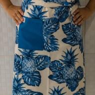 Avental de Cintura Abacaxi Azul