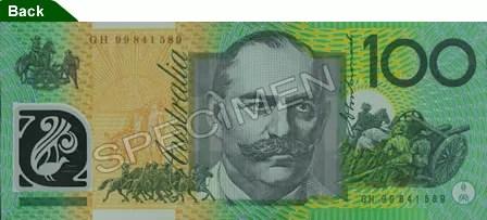 Billet de 100 dollars australiens