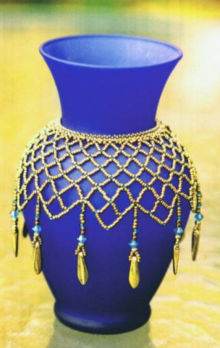 Esther Liberman Beaded Vase