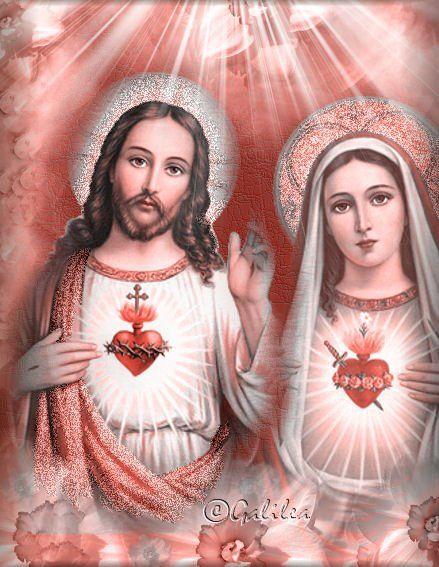 Santo Misterio del Corazón de Jesús y la Virgen María