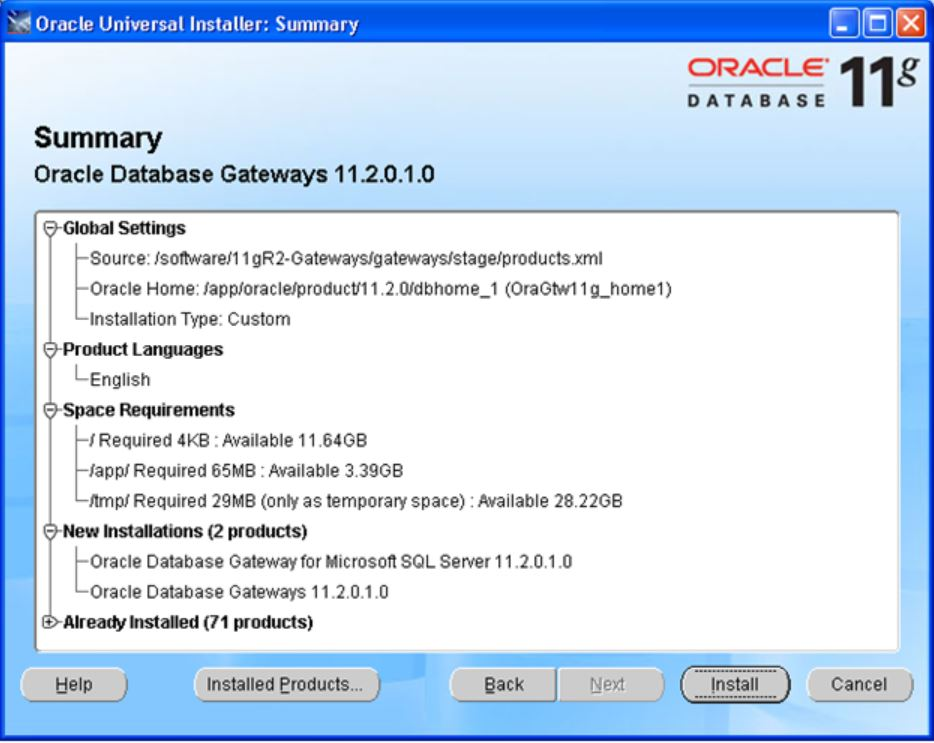 Installation of Oracle Database Gateway - ORACLE-HELP