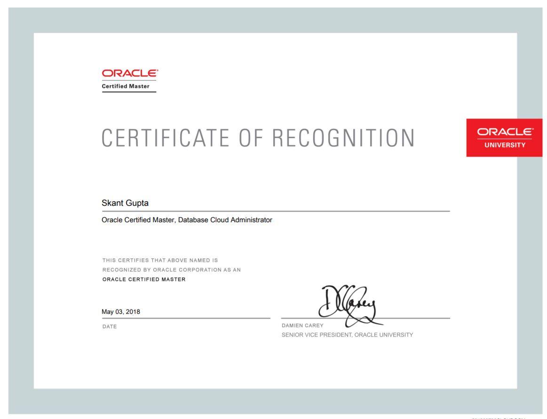 Now Unachievable Certificate Ocm Cloud Oracle Help