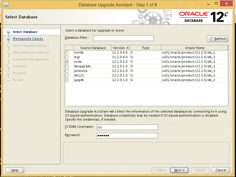 Upgrading 12cR1 to 12cR2 Non-CDB database - ORACLE-HELP