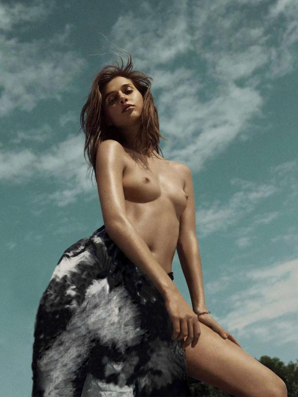 anais pouliot model french hannah khymych photographer photography l'officiel magazine officiel paris june july 2014 editorial beach swim oracle fox oraclefox bikini