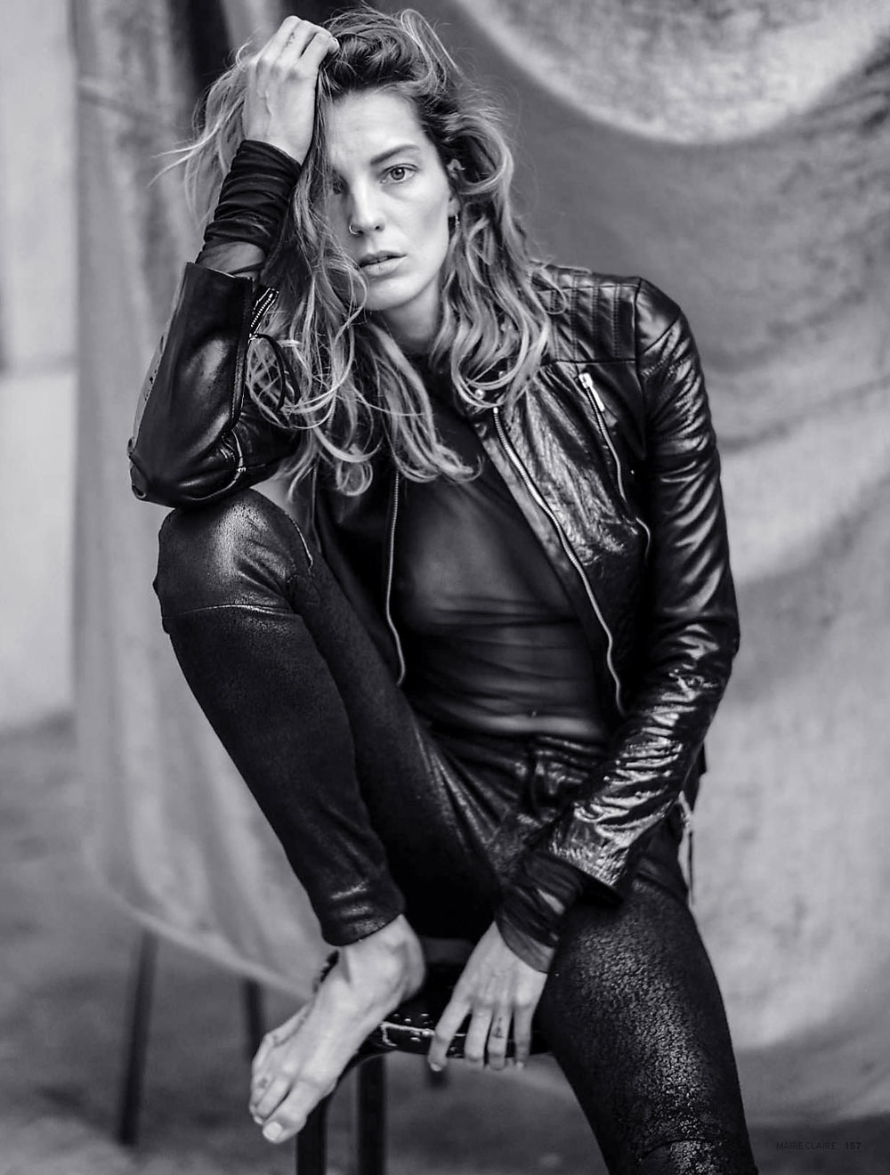 Daria werbowy mathieu cesar photographer behind the scenes marie claire russia may 2014 celine