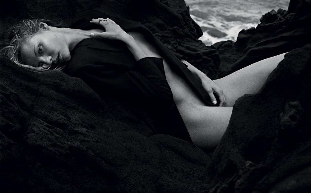 Magdalena, Frackowiak, nude, naked, mark, segal, beach, editorial