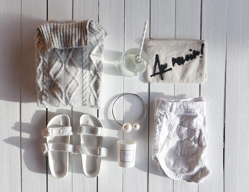 Topshop knit roll neck au devoir chanel pearl necklace bec bridge shorts white candles pool slides