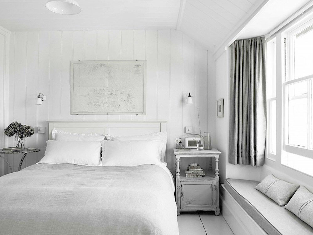 White, Home, Interior, Industrial, Minimal Inspiration, White Floorboards, Bedroom, Oracle Fox