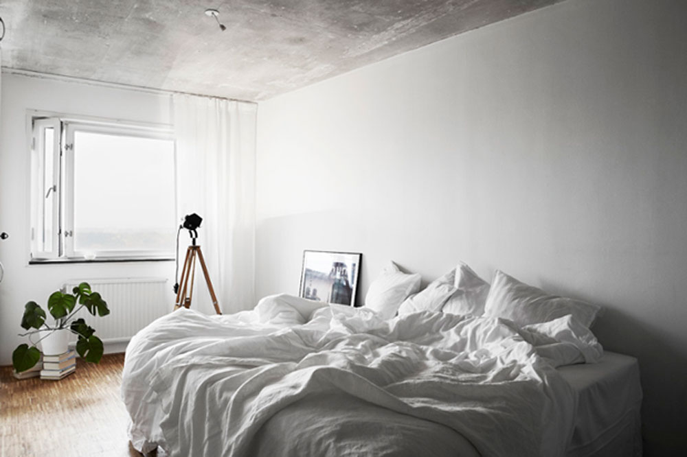 White, Home, Interior, Industrial, Inspiration, Bedroom, Unmade Bed, Sleep, Oracle Fox