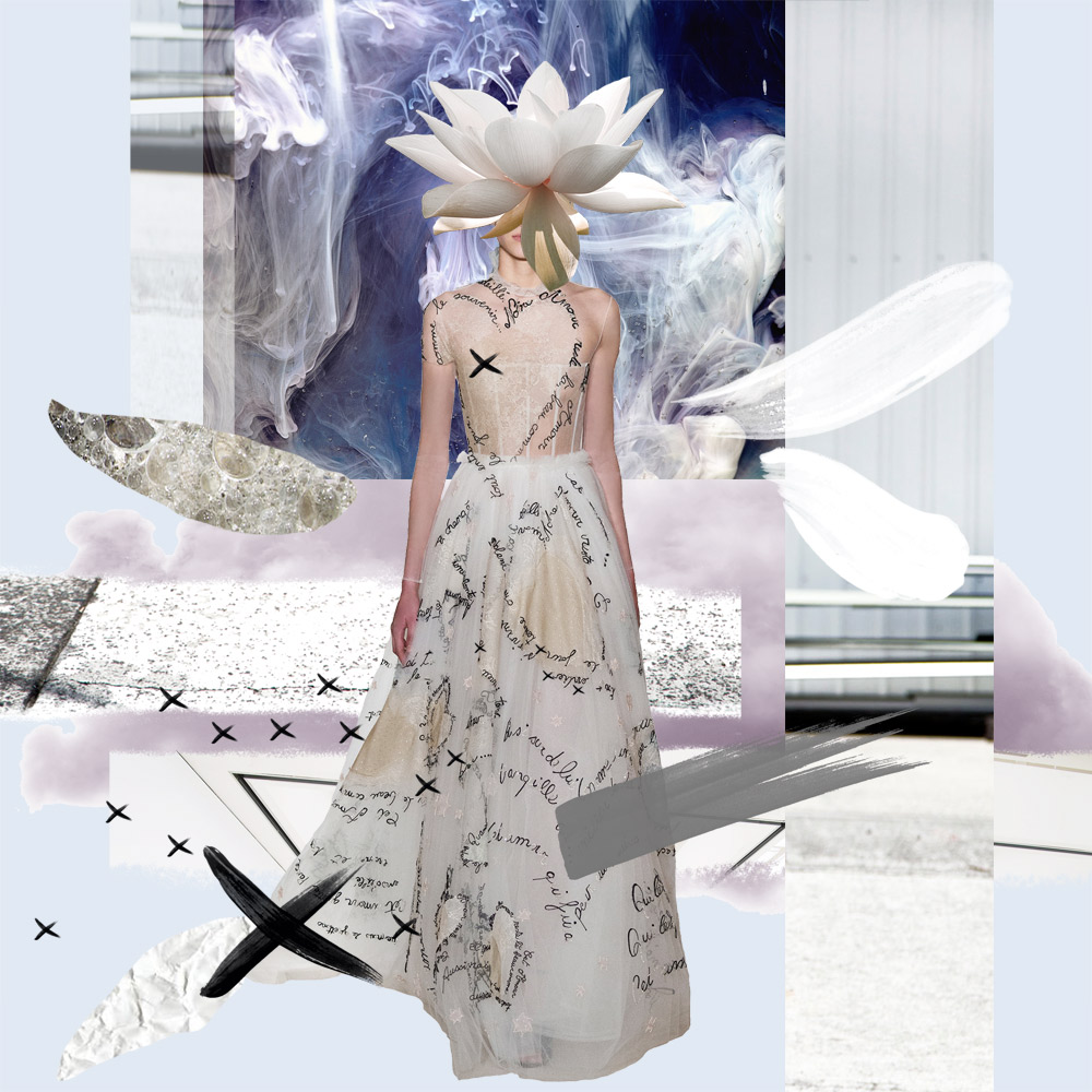 Valentino Haute Couture, SS 2015, Star Dress, Couture Spring 2015, Fashion Collage, Oracle Fox Collage