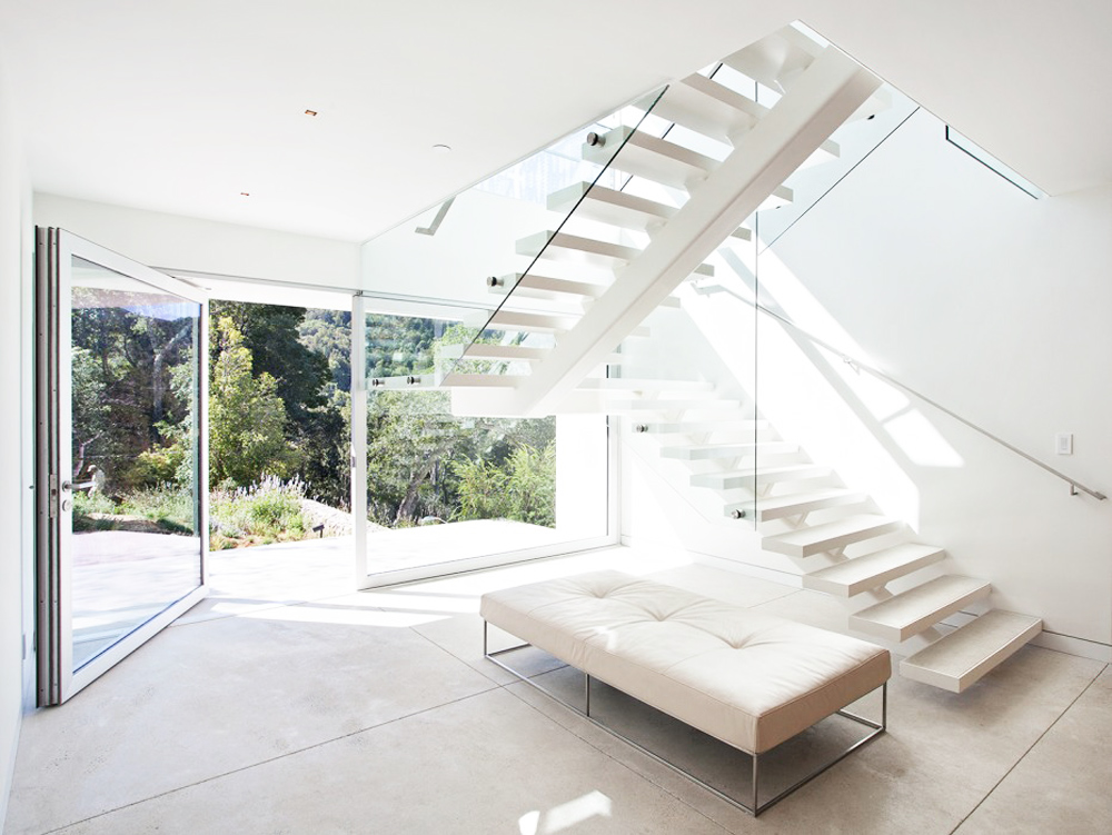 Oracle, Fox, Sunday, Sanctuary, California, Dreaming, Open, Minimal, Interior, Design, Bright, White, Stairs