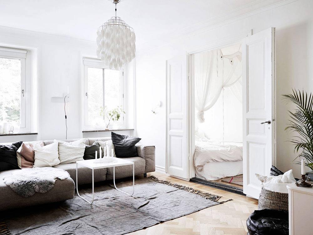 Oracle, Fox, Sunday, Sanctuary, White, Interior, White, Scandinavian, Living, Room