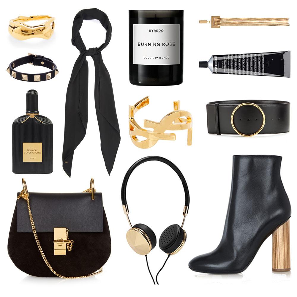 Oracle, Fox, Shopping, Post, Flat, Lay, Black, and, Gold, Chloe, Proenza Schouler, Stella McCartney, YSL