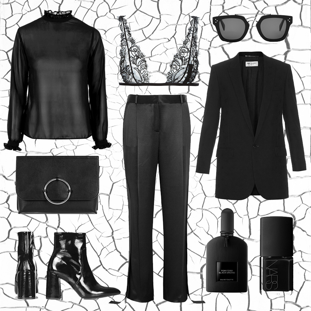 Black-outfit-collage-celine-saint-laurent-oracle-fox