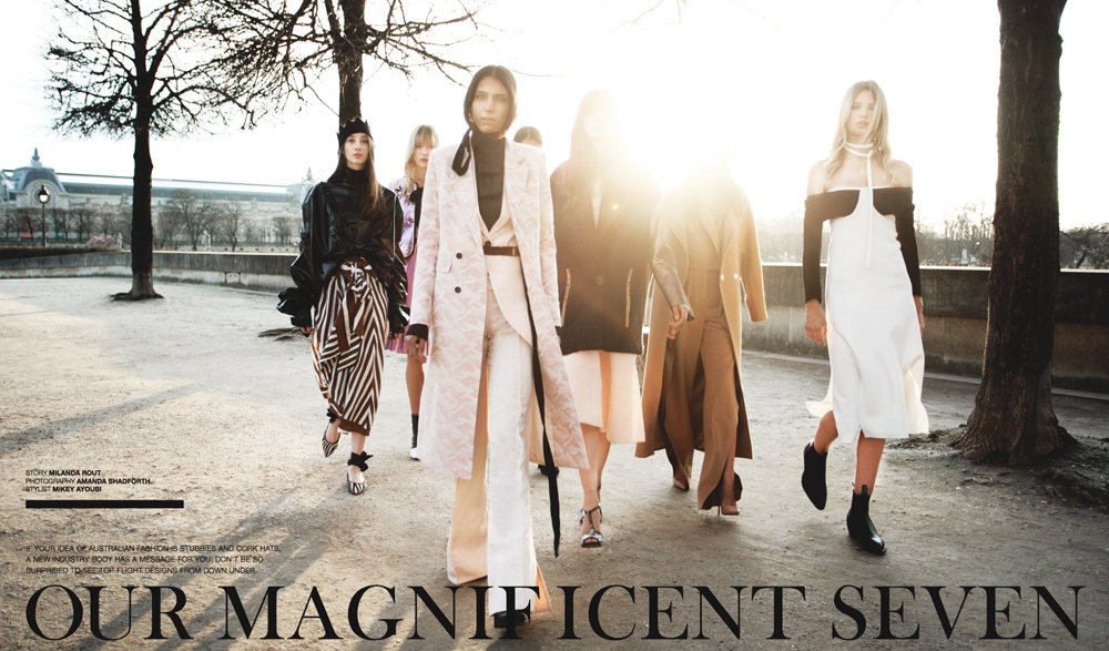 Wish Magazine, The Australian, The Australian Magazine, Australian Designers, Paris, AFC, Vogue Australia, Mikey Ayoubi, Amanda Shadforth, Oracle Fox