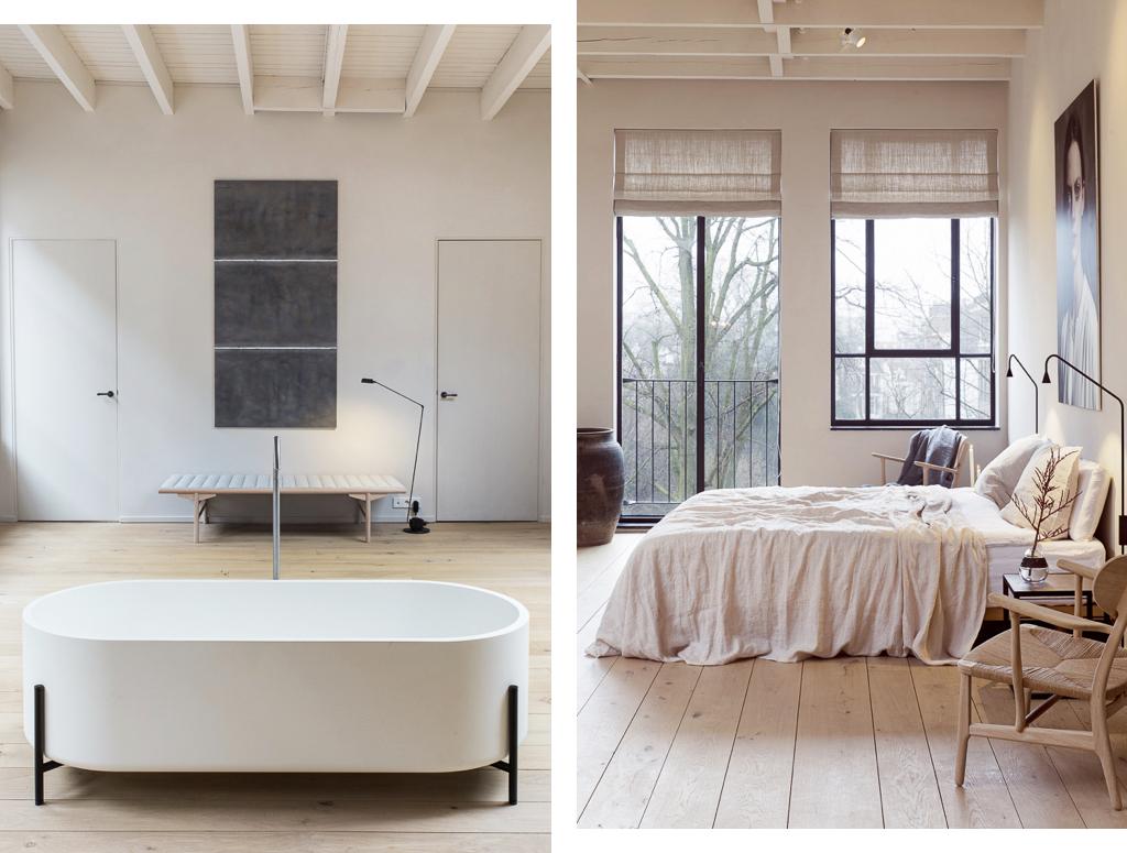 bedroom, bath, enter the loft, loft, interiors, interiors tour, apartment, miss bare, industrial, sunday sanctuary, home, inspiration
