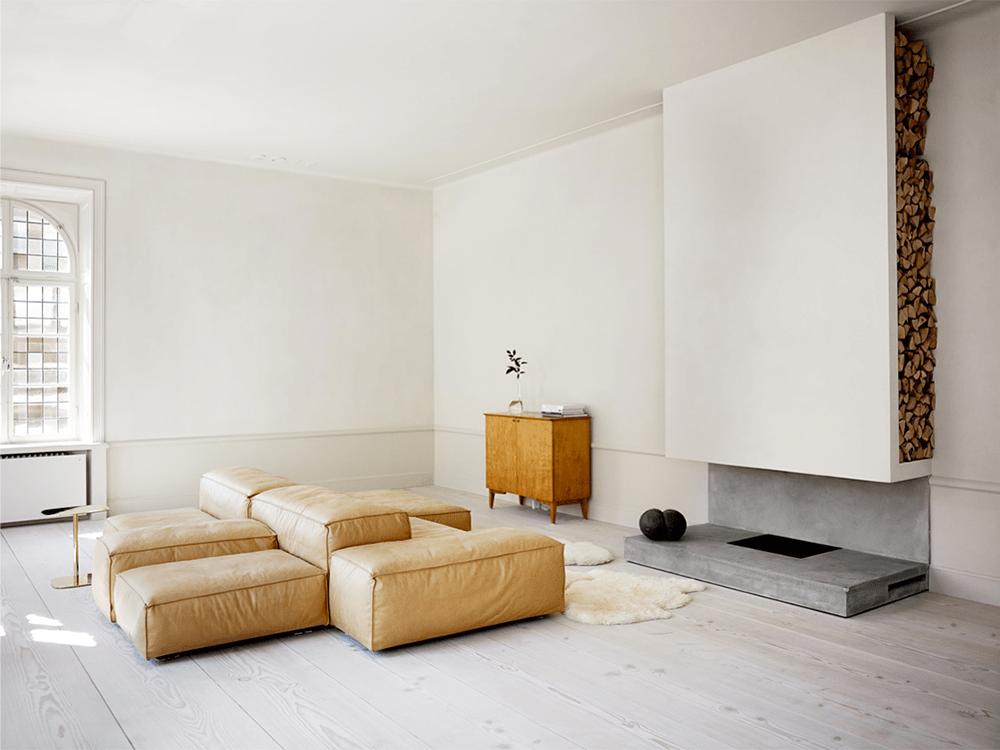 loft, apartment, stockholm, tan, leather, interiors, Oracle, Fox
