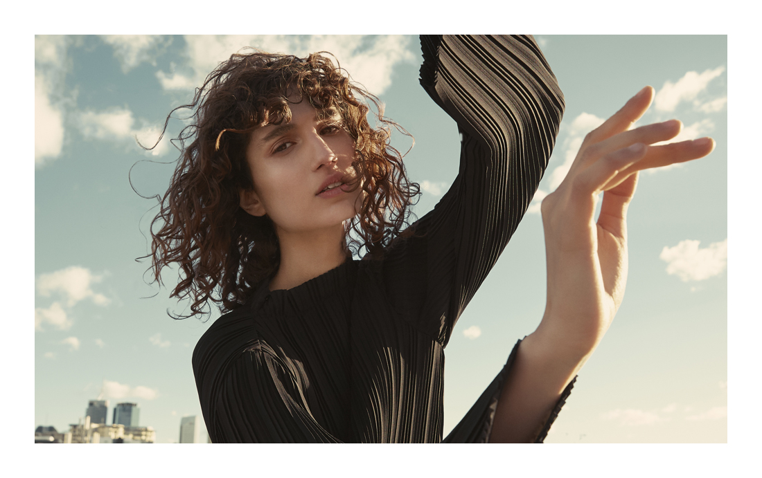 Country Road, CR, Capsule Collection, Leather Jacket, Pleats, Pleated Dress, Pleated Top, Rooftop, Photoshoot, Roberta Pecoraro, Amanda Shadforth, Photographer
